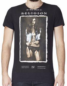 "RELIGION Clothing Herren T-Shirt Shirt ""DENIM GIRL"" NEU"