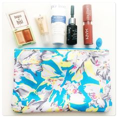 NWOT Ipsy blue floral pouch NWOT blue floral pouch.  Top zipper.  Blue interior.  Measurements to come. Ipsy Bags