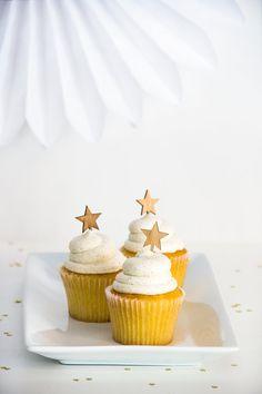 Amber Bamboo Star Cupcake Toppers - Set of 12 from http://splendidsupply.com