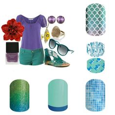 Jamberry spring summer 2015! Summer puprle and teal shorts. mermaid tales shark tails splish splash shaved ice atlantis  www.vfd.jamberrynails.net