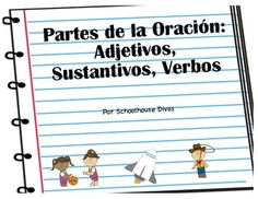 Parts of Speech/Partes de la Oracion - English Language Arts, Grammar, Literacy Centers - Second, Third, Fourth   Includes in both English and Spanish:  * 31 Parts of Speech Task Cards  * Review Worksheet  * Recording Sheet  * Answer Document $