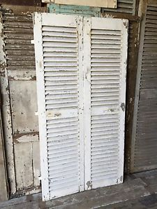 Pair Of Vintage French Rustic Shutters | eBay