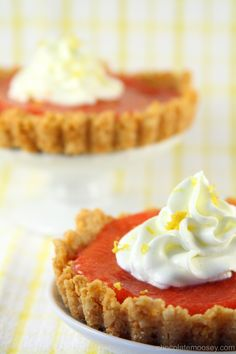 Golden Oreo Cherry Curd Tartlettes with Lemon Whipped Cream from www.chocolatemoosey.com
