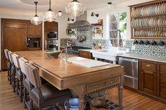 Eclectic kitchen remodel in 1928 Spanish Revival in Dana Point, California