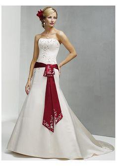 Elegant Bridal Style: Timeless and Elegant Red and White Wedding ...