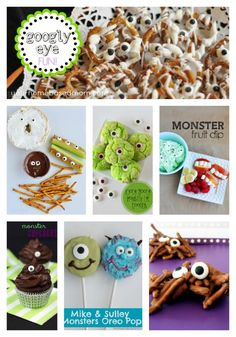 Fun googly eye edible treats. @Leigh Anne, YourHomebasedMom #kids #halloween #treats