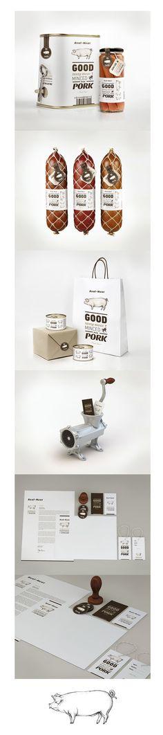 an even better pin Real Meat #packaging #branding #design PD