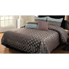 Hallmart Collectibles 49716 Geo 5-Piece Comforter Set, Queen