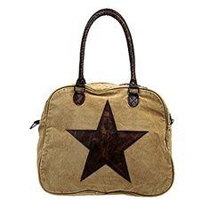 Mona B Starred Canvas Bag M-1625: Handbags: Amazon.com