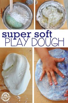 This is the softest play dough and it's really easy to make.