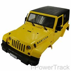 NEW 1/10 Scale RC Crawler Yellow Body Fits Axial SCX10 Jeep Wrangler D90 RC4WD