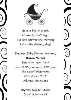 Baby Shower for boy or girl invitation