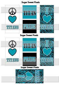 INSTANT DOWNLOAD Titans Turquoise Blue School by sugarnspicebow