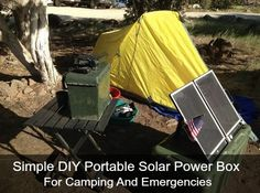 Simple DIY Portable Solar Power Box For Camping And Emergencies | Charging portable electronics and batteries can easily be done using a solar power box.