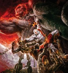 Kratos Climbing Atlas. Man I love this, escaping the hands of death