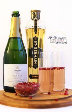 St Germain Pomegranate Spritzers