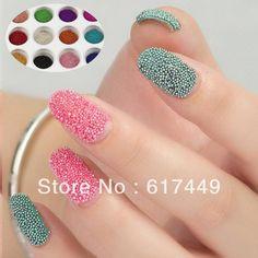 L'expédition De Baisse De Vernis À Ongles Nail Art Strass 12 Couleurs De Bricolage Multicolore Caviar Manucure Décoration De Perles De