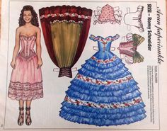 Finnish paper doll Romy Schneider as Sissi
