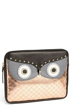kate spade new york 'owl' iPad sleeve | Nordstrom Interesting, I'm bird a phobic, so it's not my cup of tea, but interesting nonetheless  and not bad at 125.00