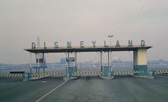 The entrance to Disneyland, 1965