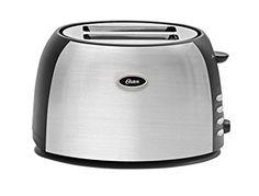 Oster TSSTJC5BBK 2-Slice Toaster, Brushed Stainless Steel