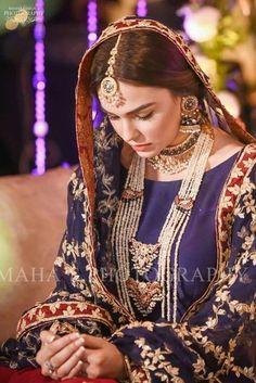 Pakistani Bridal Makeup Barat 50 New Ideas Pakistani Bridal Makeup, Bridal Mehndi Dresses, Pakistani Wedding Outfits, Bridal Dress Design, Bridal Outfits, Pakistani Dresses, Bridal Style, Pakistani Garara, Dress Wedding