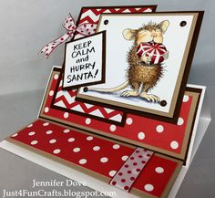 Just4FunCrafts and DoveArt Studios: Hurry Santa!