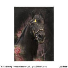 Black Beauty Friesian Horse - Acrylic Art Photo Composition, Friesian Horse, Acrylic Art, Black Beauty, Nativity, Horses, Canvas, Digital, Artwork