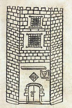 Reproducción de la antigua prisión que se encontraba en una de las torres de entrada a la ciudad de Barcelona (por la muralla romana) donde hoy está la Plaça de l'Angel.