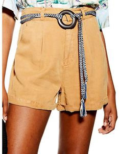 TOPSHOP Women's Belted Tencel Short - Tan - Size UK 14/US 10 Ceinture Large, Fast Fashion, Womens Fashion, Belts For Women, New Trends, Short Dresses, Topshop, Embroidery, Future