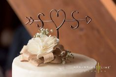This wire wedding cake topper is modern, rustic and simply elegant.  Each topper is about 6 - 7 wide, 5 - 6 tall, custom handmade and unique. Custom