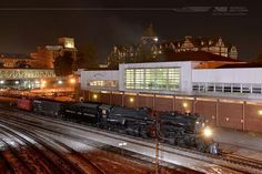 1218 Norfolk & Western Steam at Roanoke, Virginia by Norfolk Southern Corp Virginia Museum Of Transportation, Western Office, Train Museum, Norfolk Southern, Night Train, Old Trains, Locomotive, Westerns, Mansions