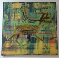 North Pole Inspired Art  Deer Animal Painting Les Thomas 24x24 painting #lesthomas — at Visions West Gallery. #visionswestgallery http://www.visionswestgallery.com/