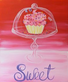 BYOB Painting Class: Sweet on 2/7/2014 7:00:00 PM - at Paint Until You Faint