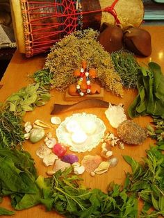 Herb Offerings to Tara, Goddess of the Guanches of the Canary Islands
