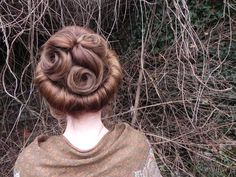 This is the hair I created today for my Edwardian photoshoot, I have been hugely inspired by the hair designs from Mr Selfridge and love there romantic feel
