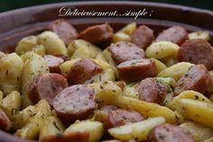 Délicieusement... simple !: Pommes de terre rôties à la saucisse