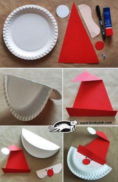 MENTŐÖTLET - kreáció, újrahasznosítás: Mikulás papírtányérból