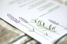 Oh So Beautiful Paper: Rosemary + Lavender wedding invitations http://ohsobeautifulpaper.com/2011/06/rosemary-lavender-letterpress-wedding-invitations/