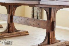 DIY pedestal style farmhouse table