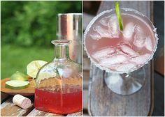 "Rhubarbarita (Rhubarb Margarita) Recipe for ""Rhubeena (Rhubarb, Water and Sugar) - Drink made from Rhubeena, Lime Juice, Tequila"