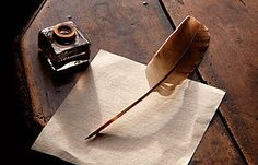 Paper and quill on Jane Austen's table
