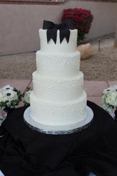 Dotted Wedding Cake