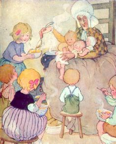 """from """"Nursery Rhymes"""" Thomas Nelson & Sons Ltd., undated. Illustrated by Anne Anderson"""