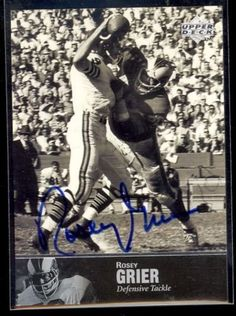 9cef5c455 1997 Upper Deck NFL Legends Football Rosey Grier Autograph   Read more  reviews of the product
