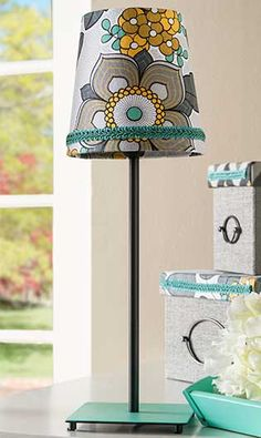 Decoupage - Fabric Covered Lampshade
