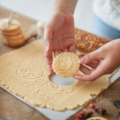 Cookies with frosty pattern