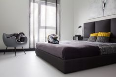 Black and white #minimal and #modern bedroom