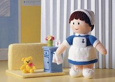 Jean Greenhowe's Mascot Dolls - Toy & Doll Knitting Patterns - Frugal Knitting Haus