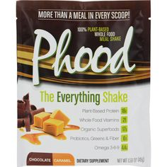 Plantfusion Phood Packets - Chocolate Caramel - 1.59 oz - Case of 12 - What you get in Phood! PlantFusion Multi-Source Protein BlendFive uniquely balanced protein sources with enhanced levels of key branched chain amino acids and glutamine. Organic SuperPhood Energy MatrixModcarb - patented blend of complex carbs from organic ancient grains.Natures perfect sustained energy source. And the superfruit Baobab; an incredible energy food harvested from Aftricas prolific Tree of Life. Land and Sea…